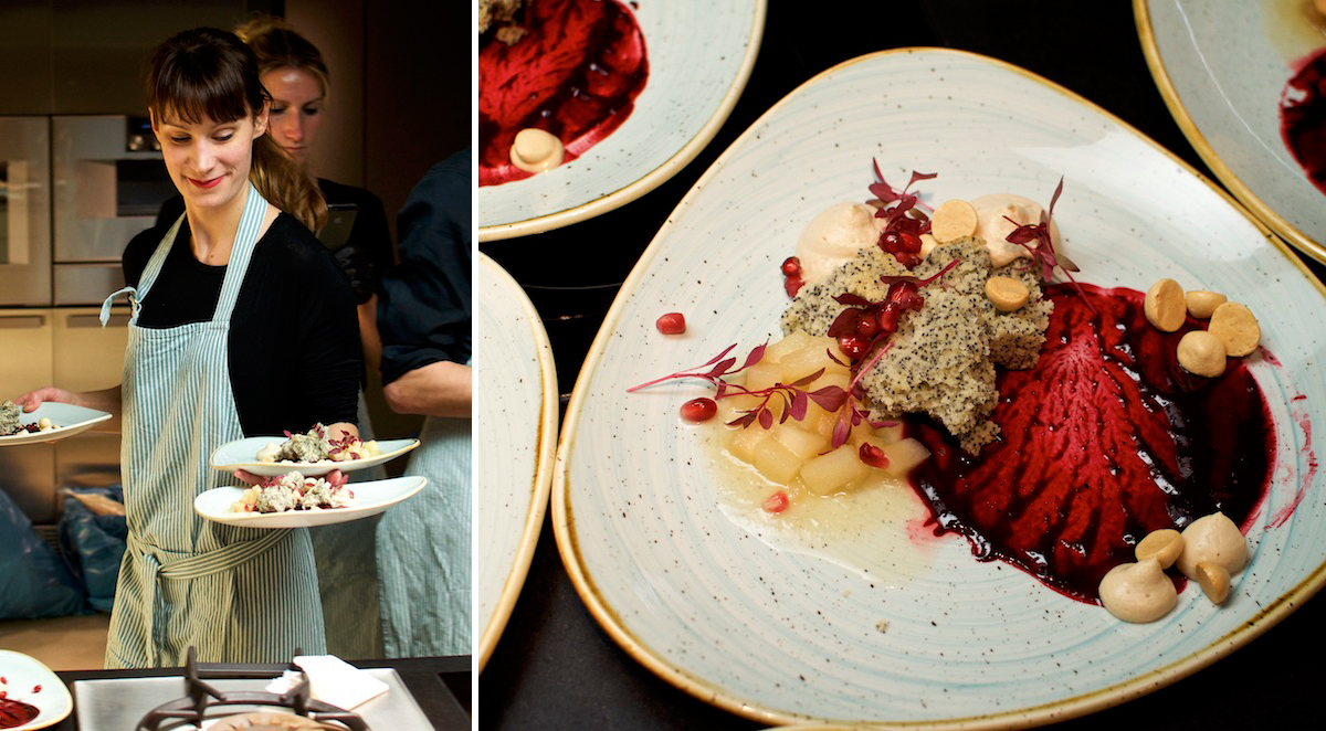 Stolz serviert Stella das Dessert ihres Secret Dinner STADT LAND FLUSS | Fotos: Monika Schreiner ISARBLOG