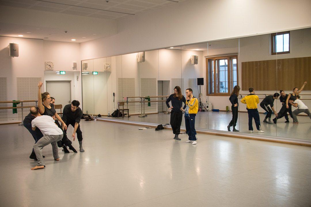 Probe im Ballettsaal des Gärtnerplatztheater München