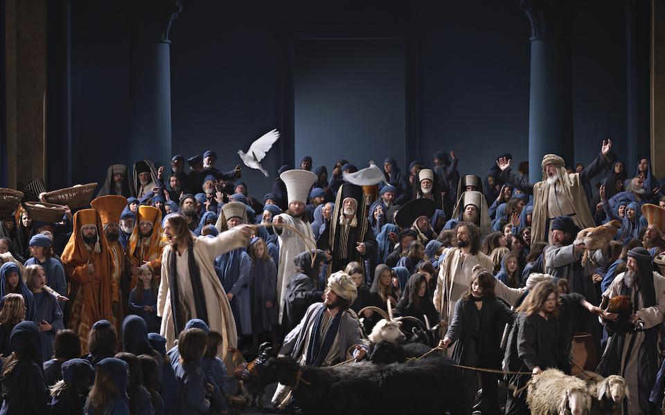Passionsspiele Oberammergau: Jesus reinigt den Tempel