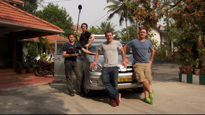 Das Filmteam und die Guerilla Köche Max & Felix