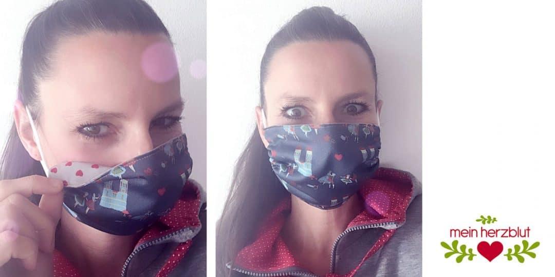 Mund Nasen Schutz Maske Mein Herzblut